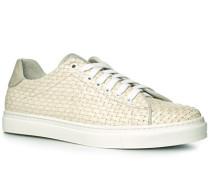 Schuhe Sneaker Leder creme
