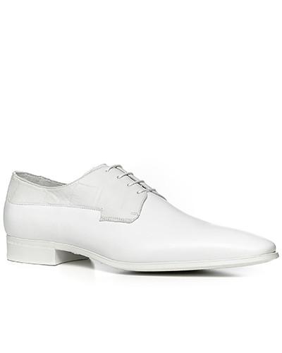 Schuhe Derby, Kalbleder, bianco