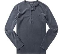 T-Shirt Longsleeve Baumwolle rauchblau