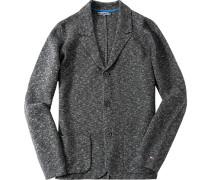 Cardigan Wolle-Baumwolle meliert