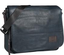 Tasche Messenger Bag, Microfaser, petrol