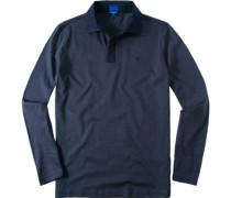 Herren Polo Modern Fit Baumwolle navy-jeansblau gestreift