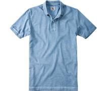 Herren Polo-Shirt Polo Baumwoll-Piqué pastellblau
