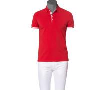 Polo-Shirt Polo Baumwoll-Jersey schwarz