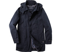 Herren Mantel Baumwoll-Mix ausknöpfbares Futter marineblau blau,blau