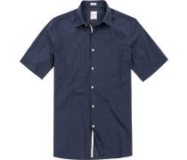 Hemd Modern Fit Baumwolle navy