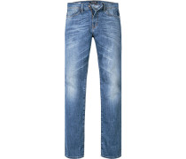 Blue-Jeans Straight Cut Baumwolle jeansblau