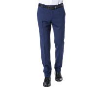 Hose, Extra Slim Fit, Schurwolle, royalblau