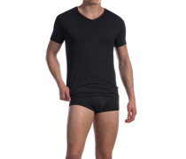 Herren T-Shirt Baumwoll-Stretch schwarz