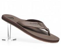 Schuhe Zehensandalen Kunstleder khaki