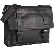 Herren Tasche strellson Messenger Bag Rindleder schwarz
