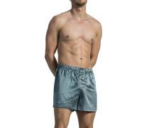 Herren Unterwäsche Boxershorts Seide silbergrau gemustert