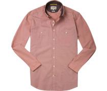 Hemd Regular Fit Baumwolle rost meliert