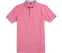 Polo-Shirt Polo Body Fit Baumwoll-Piqué meliert