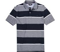 Polo-Shirt Polo, Baumwoll-Pique, gestreift