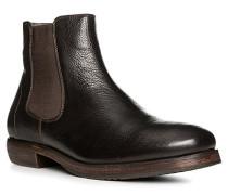 Herren Schuhe Chelsea Boots Leder dunkelbraun braun,grau