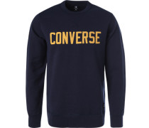 Pullover Sweater, Baumwolle, navy