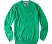Herren Pullover Baumwolle grün
