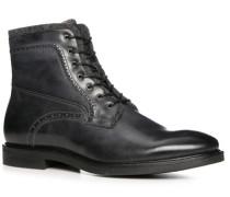 Schuhe Schnürstiefeletten Kalbleder anthrazit
