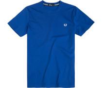 Herren T-Shirt Baumwoll-Piqué königsblau