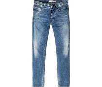 Jeans Baumwoll-Stretch jeansblau