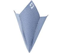 Accessoires Einstecktuch Baumwolle blau gemustert