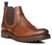 Schuhe Chelsea-Boots Leder cognac