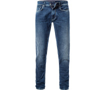 Jeans, Slim Fit, Baumwoll-Stretch 12oz, saphirblau