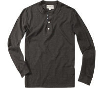 T-Shirt Longsleeve, Baumwolle, anthrazit meliert