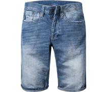 Jeansshorts Straight Fit Baumwolle denim