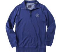Pullover Sweater Baumwolle königsblau