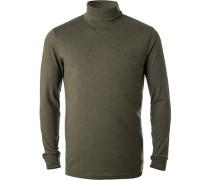 Pullover Rollkragen Regular Fit Baumwolle meliert
