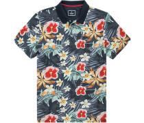 Polo-Shirt Polo Baumwoll-Piqué multicolor gemustert