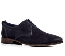 Schuhe Derby Veloursleder nachtblau