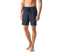 Herren Schlafanzug Pyjamashorts Baumwolle dunkelblau gemustert