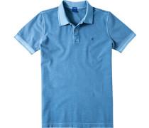 Herren Polo-Shirt Polo Modern Fit Baumwoll-Piqué Petrol meliert blau