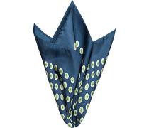 Accessoires Einstecktuch Seide tintenblau gemustert