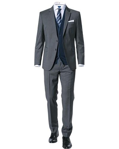 joop herren herren anzug slim fit schurwolle grau meliert. Black Bedroom Furniture Sets. Home Design Ideas