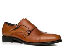Herren Schuhe Monk Kalbleder cognac braun,braun