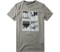 T-Shirt, Baumwolle, greige