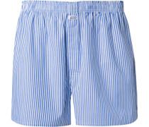 Herren Unterwäsche Boxershorts Baumwolle marineblau-weiß gestreift