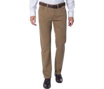 Jeans Regular Fit Baumwoll-Stretch hellbraun