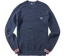 Pullover Baumwolle nachtblau meliert