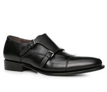 Schuhe Doppelmonkstrap, Kalbleder,