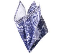 Accessoires Einstecktuch, Baumwolle, marine-hellblau paisley