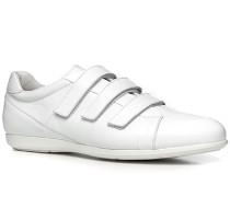 Schuhe Sneaker, Nappaleder, bianco