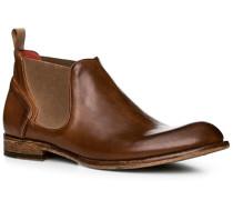 Schuhe Chelsea-Boots, Leder, cuoio