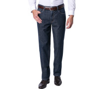 Herren Jeans Contemporary Fit Baumwoll-Stretch dunkelblau