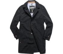 Mantel Anorak Baumwolle beschichtet nachtblau