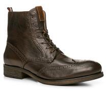 Schuhe Stiefeletten Leder dunkelbraun